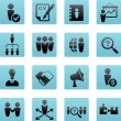 Collection of human resources icons — Stock Vector