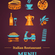 Italian Restaurant menu design — Stock Vector