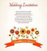 Greeting card, invitation, wedding or announcement — Stock Vector