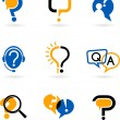 Set of question mark icons — Stock Vector