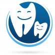 Dental clinic vector icon - smile teeth — Stock Vector