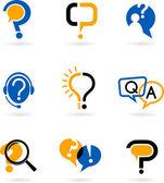 Conjunto de iconos de signo de interrogación — Vector de stock