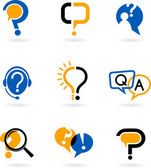 Set of question mark icons — Vector de stock