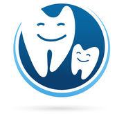 Icona di vettore clinica dentale - denti sorriso — Vettoriale Stock