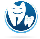 Icono de vector de clinica dental - sonrisa dientes — Vector de stock