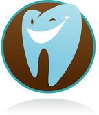 Dental clinic vector icon - smile tooth — Stock Vector