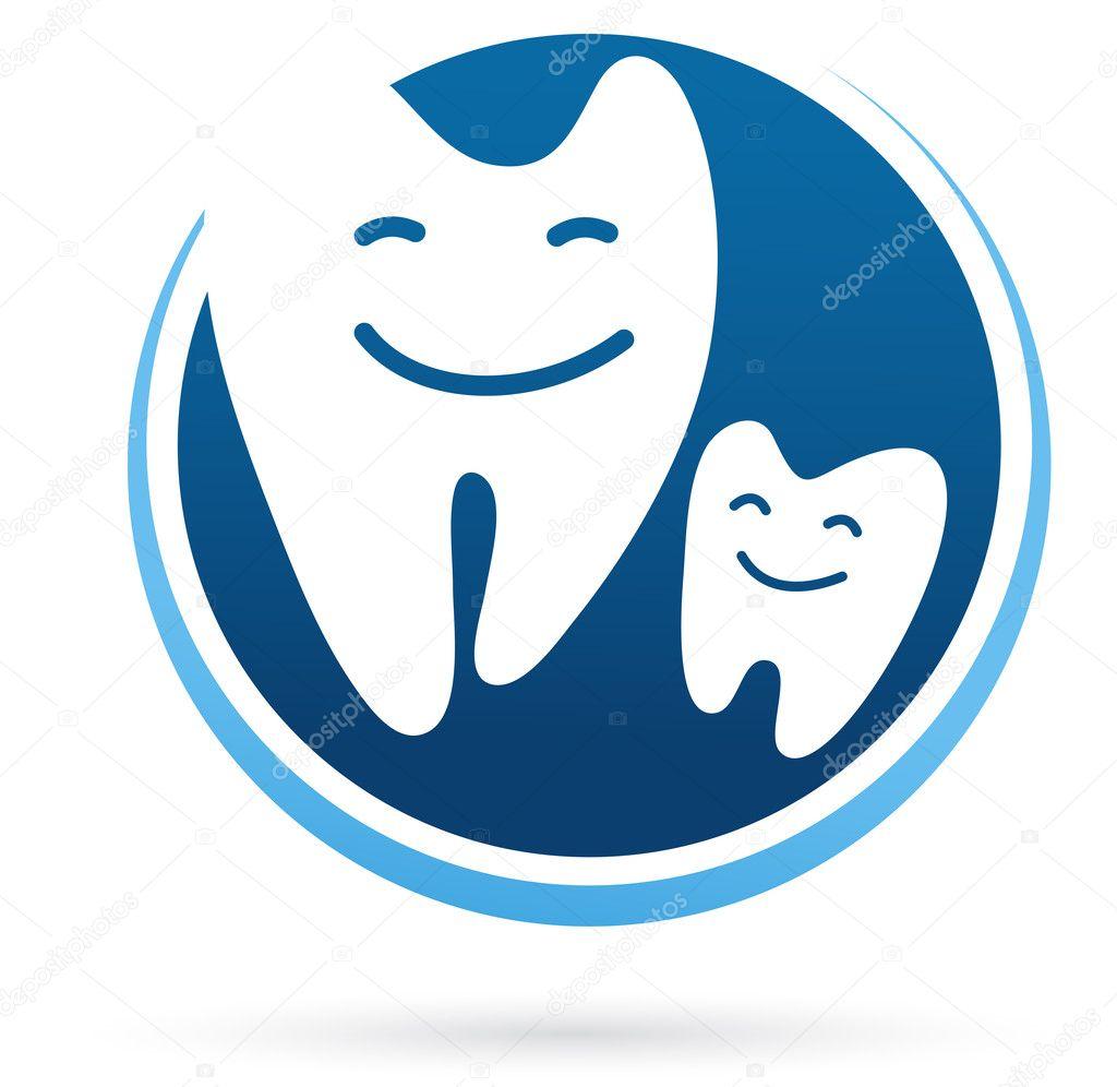牙科诊所矢量图标-微笑的牙齿