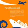 Travel background - cruise and airplane - Stock Vector