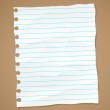 Wrinkled lined paper and note paper. Vector eps 10 — Stock Vector