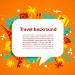 Travel background with speech bubble — Stock Vector