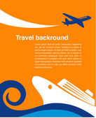 Travel background - cruise and airplane — Stock Vector