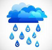 Internet molnet med ikoner — Stockvektor
