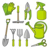 Gardening icons — Stock Vector