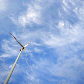 Windmill against blue sky with copy space — Stock Photo
