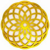 金黄的几何形状 — 图库照片