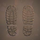 Las huellas de botas — Foto de Stock