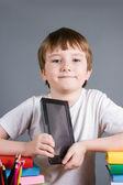 Boy with e-book — Stock Photo