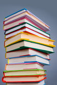 Stack of colorful books — Stock Photo