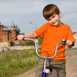 Royalty-Free Stock Photo: Boy with the bike