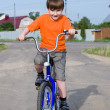 Boy with the bike — Stock Photo