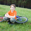 Boy with bike — Stock Photo #11062320