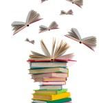 Flying books — Stock Photo