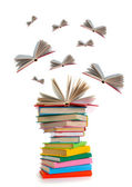 Flying books — Stock Photo