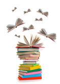 Libri volanti — Foto Stock