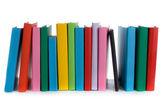 Stoh knih a e knihy o — Stock fotografie