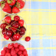 Raspberry, cherry and strawberry - Stock Photo