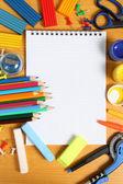 Skolan tillbehör — Stockfoto
