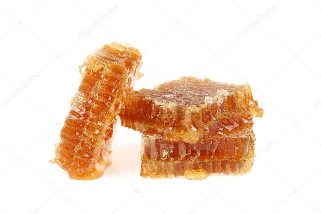 Honeycomb isolated on a white background  Foto de Stock   #12330047