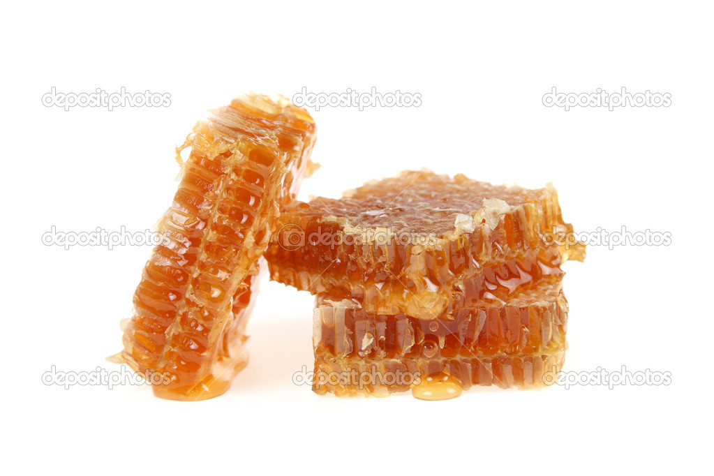 Honeycomb isolated on a white background  Stockfoto #12330047