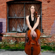 Woman cellist — Stock Photo
