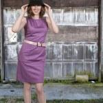 Beautiful Woman in a Mod Dress — Stock Photo #10919962