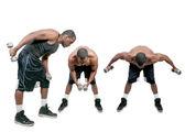 Black Man Lifting Weight — Stock Photo
