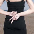 Woman With Hands Behind Back — Stock Photo #12249906