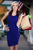 女人购物袋 — 图库照片
