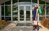 Woman Shopping Bags — Stockfoto