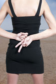 Woman With Hands Behind Back — Stock Photo