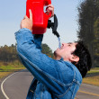 Drinking Gasoline — Stock Photo