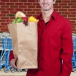 Man Grocery Shopping — Stock fotografie