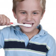Little Boy Brushing Teeth — Stock Photo #12252091