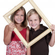 Kids in a Frame — Stock Photo