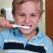 Little Boy Brushing Teeth — Stock Photo #12252468