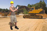 Man Construction Worker — Stock Photo