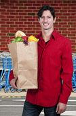 Mann-einkaufen — Stockfoto