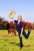 Cowgirl — Stockfoto