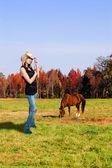 Cowgirl — Zdjęcie stockowe