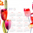 Royalty-Free Stock Photo: Colorful calendar for 2013